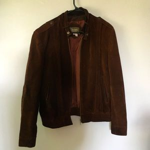 Sears Real Leather Jacket Men's Size 44 Brown